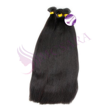 I tip yaki straight hair black color