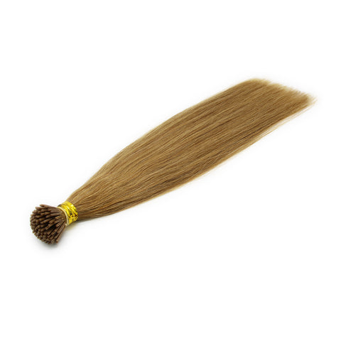 I tip straight hair light brown color #12