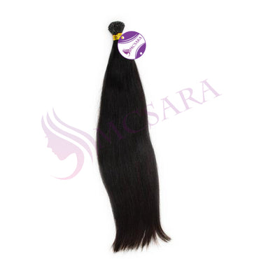 I tip straight hair extensions black color - MCSARA HAIR