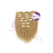 Clip in kinky straight hair Blonde color