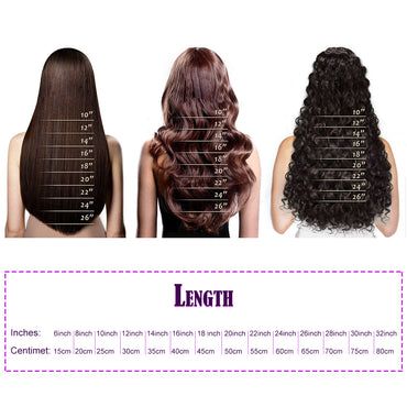 Flat tip straight hair dark brown color #5Q