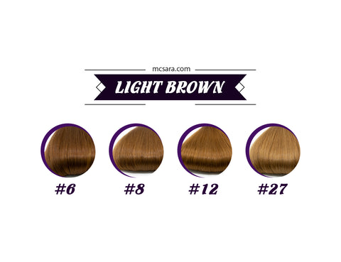 light brown wig color chart