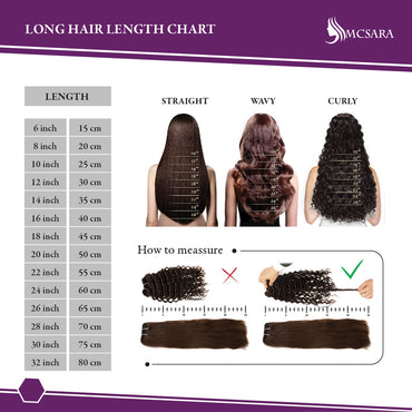 MCSARA Hair Length chart