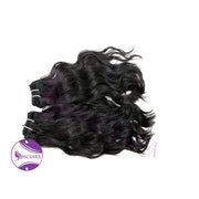 Weave natural wavy hair black color