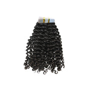 Tape in loose curly hair black color