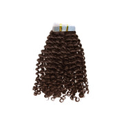 Tape in loose curly hair brown color