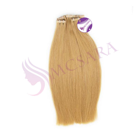 Tape in straight hair Blonde color