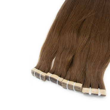 Tape in straight hair brown color