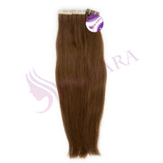 Tape in straight hair brown color #4Q