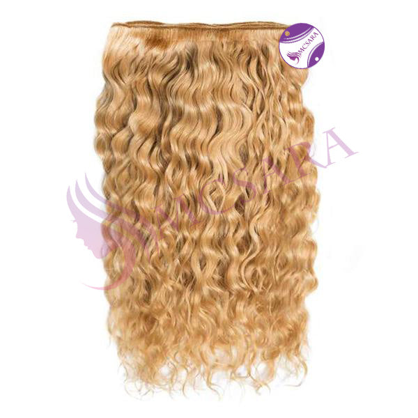 Weave curly hair light brown color A+++