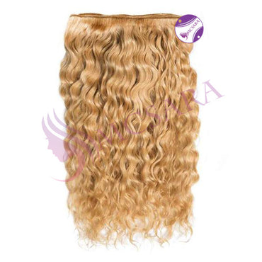 Weave curly hair light brown color A+
