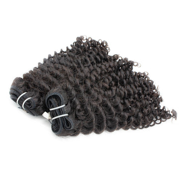 Weave curly hair black color A+