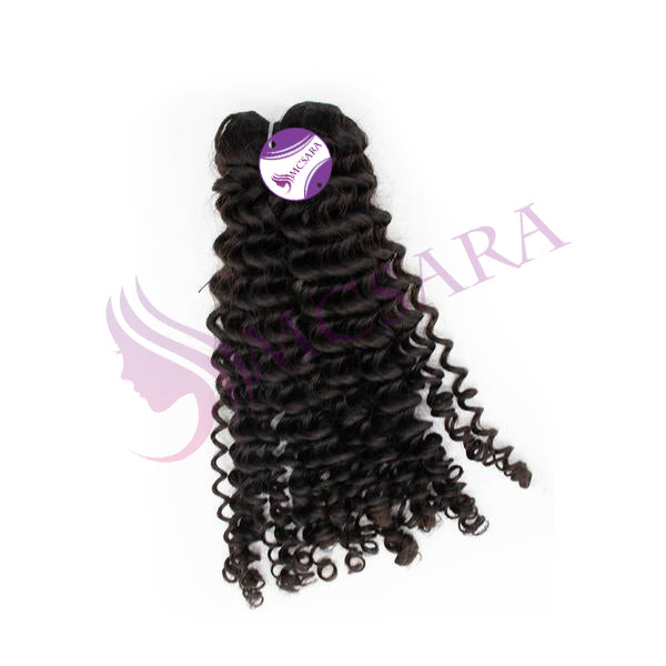 Weave curly hair extensions black color A