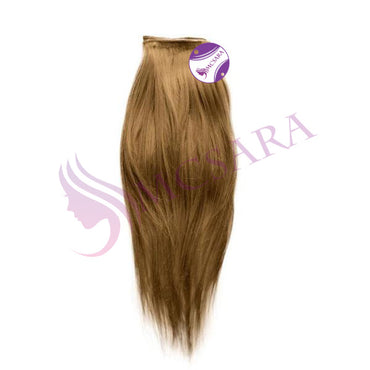 Weave straight hair light brown color A