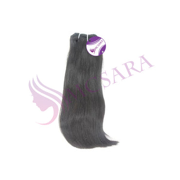 6 inches of hair weave black color
