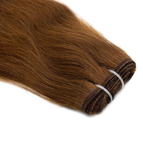 Weave straight hair dark brown color #4