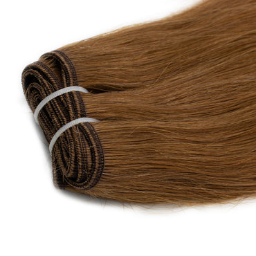 Weave straight hair light brown cold color #5Q