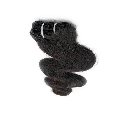 Weave wavy hair black color A+
