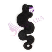 Weave wavy hair black color A++