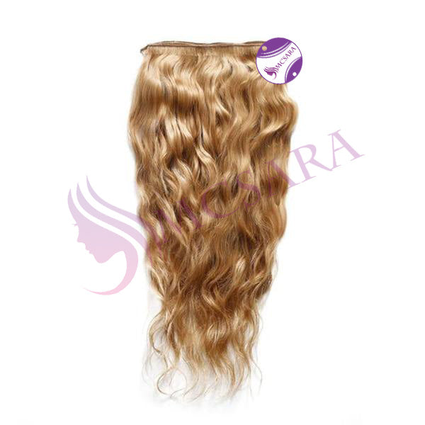 Weave wavy hair light brown color A