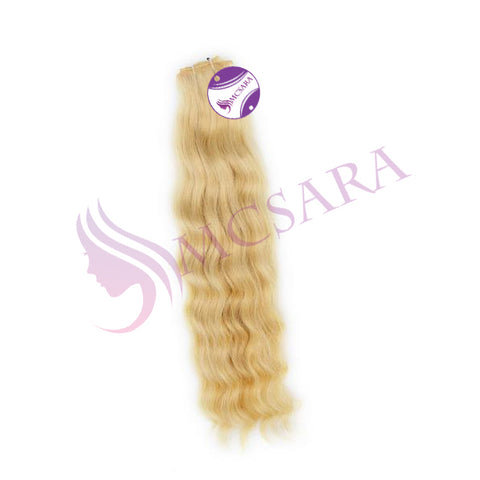 Weave wavy hair Blonde color A+
