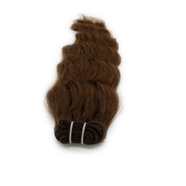 Weave wavy hair dark brown color A+