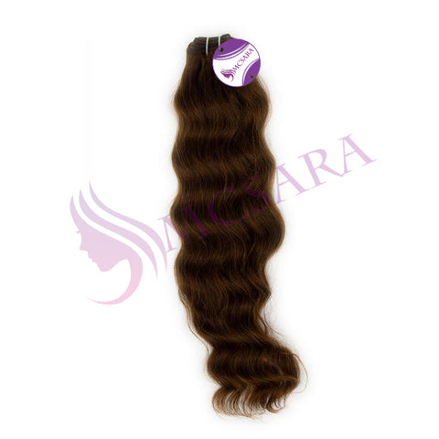 Weave wavy hair brown color A+