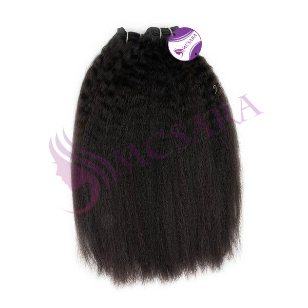 Weave kinky straight hair black color #1A