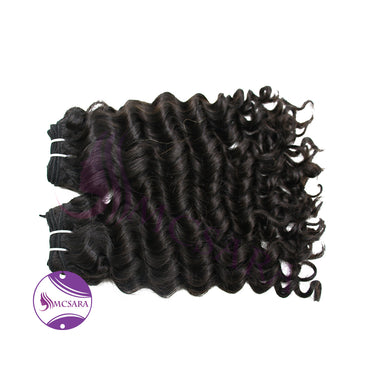 Weave deep wavy hair black color