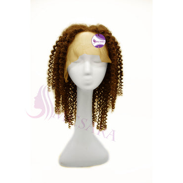 lace front short wigs curly light brown hair