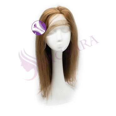 Wig straight light brown color