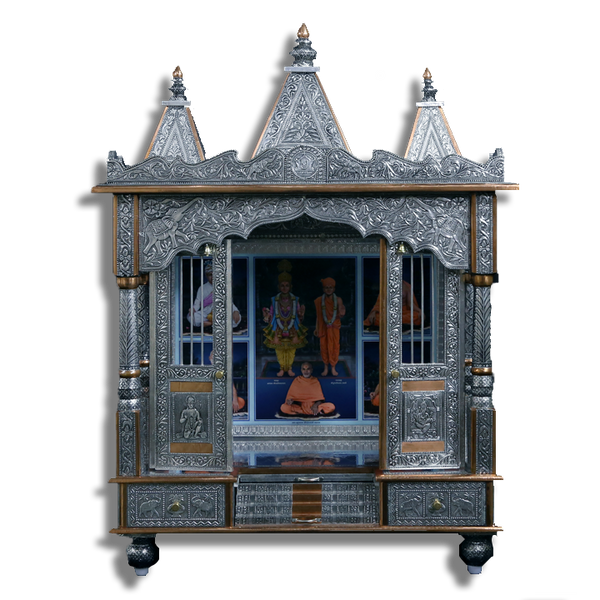 "Ghar Mandir Oxidised - 33"" x 19"" x 44"" (Inches)"