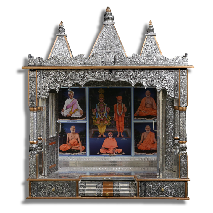 "Ghar Mandir Oxidised - 36"" x 21"" x 48"" (Inches)"