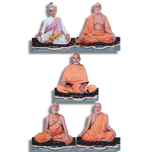 Guru Parampara Cut-Out Murtis Set