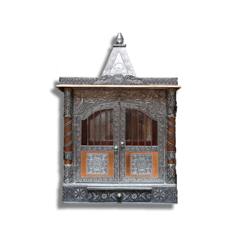 "Ghar Mandir Oxidised - 9"" x 21"" x 28"" (Inches)"