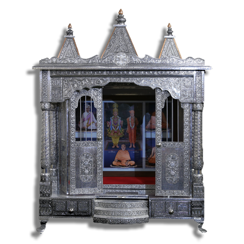 "Ghar Mandir Oxidised - 24"" x 36"" x 38 (Inches)"