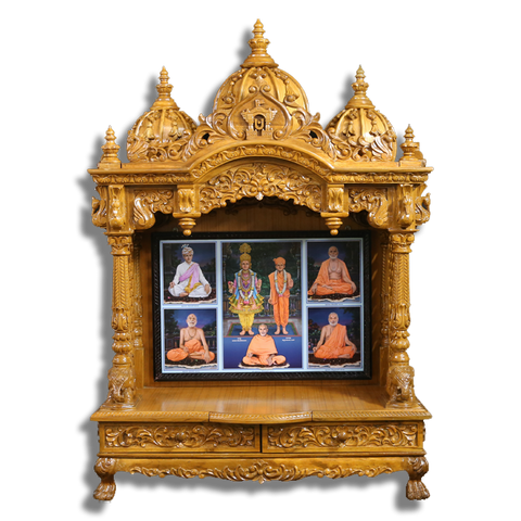 "Ghar Mandir - 37"" x 18"" x 50"" (Inches)"