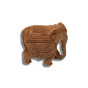 "Wooden Elephant - 6"" (Inches)"