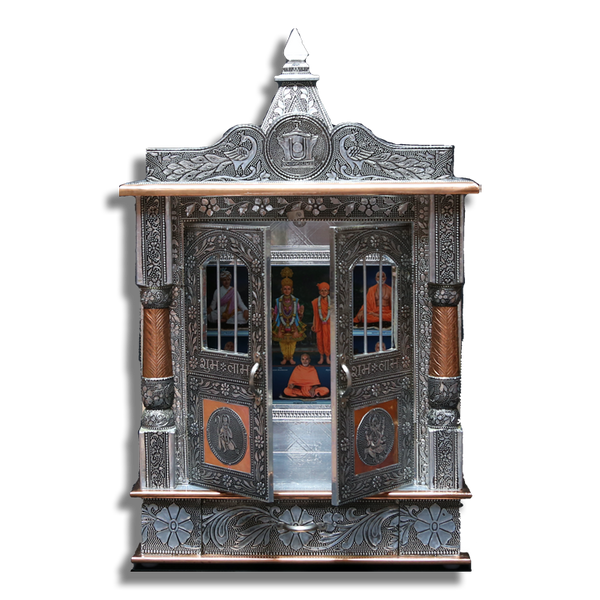"Ghar Mandir Oxidised - 15"" x 7"" x 25"" (Inches)"