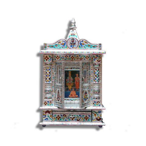 "Ghar Mandir Oxidised - 7"" x 14"" x 20"" (Inches)"