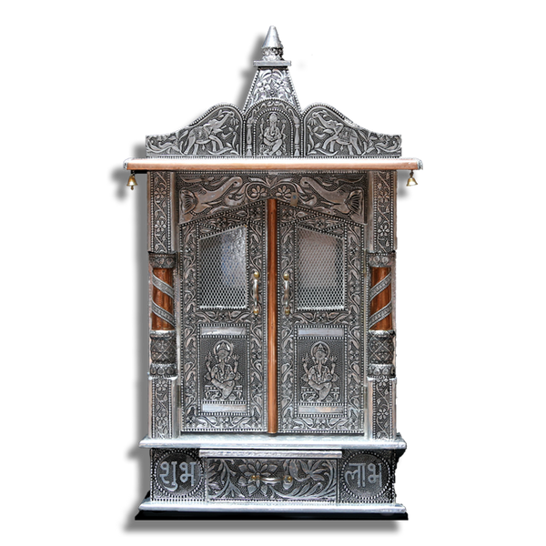 "Ghar Mandir Oxidised - 8"" x 14"" x 26"" (Inches)"