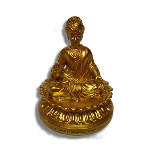 "Bhagwan Swaminarayan - 4"" (Inches) - Fibre Matt Gold Finish"