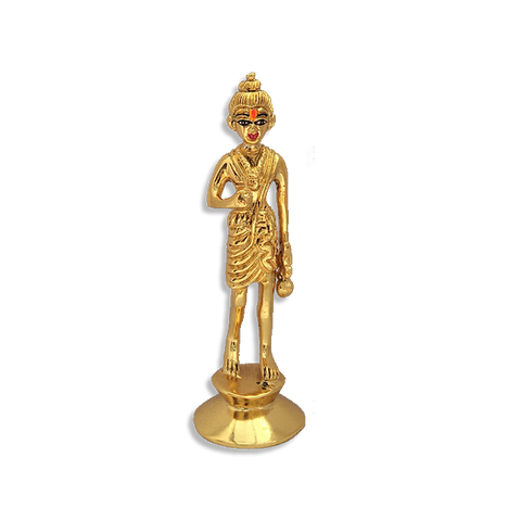"Nilkanth Varni - 4"" (Inches) - Brass Gold Finish"
