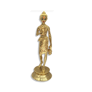 "Nilkanth Varni - 6.5"" (Inches) - Brass Gold Finish"