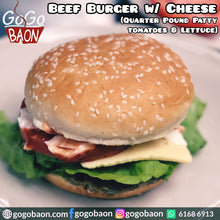 Load image into Gallery viewer, Beef Burger with Cheese and Potato Wedges 芝士牛肉漢堡配炸薯角