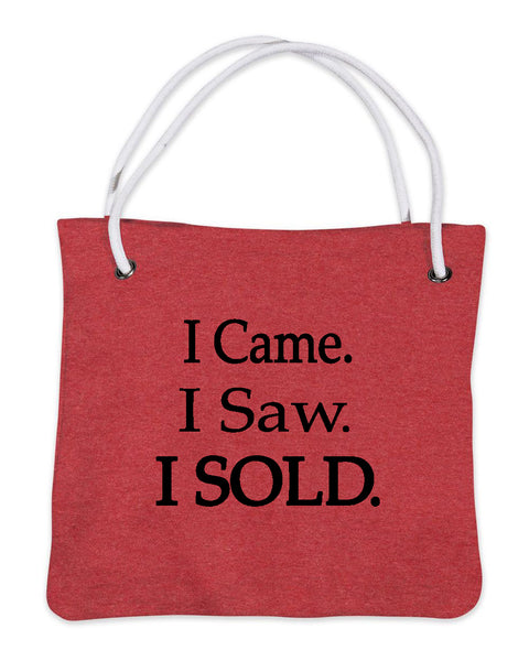 I Came I Saw I Sold Bags Red