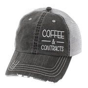 Coffee & Contracts Hats/Caps-Gy