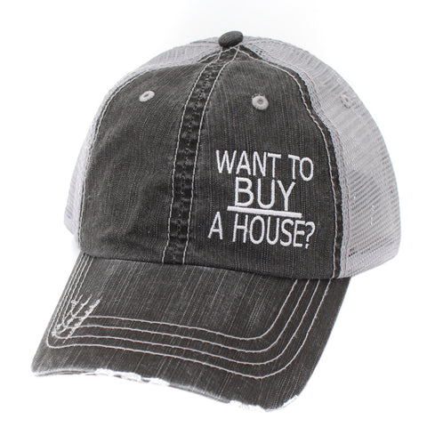 Want To Buy A House Hats/Caps-Gy