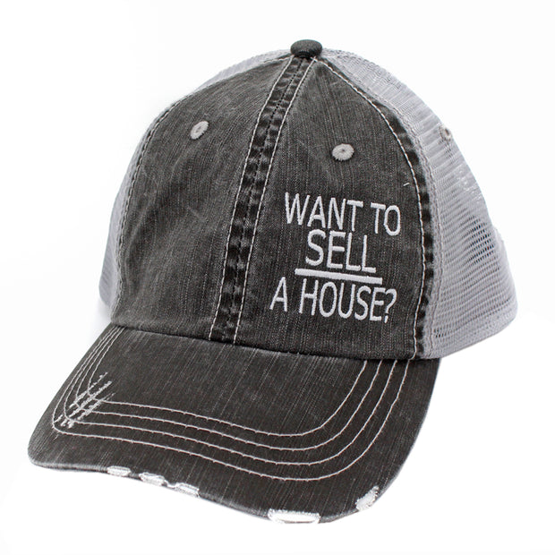 Want To Sell A House Hats/Caps-Gy