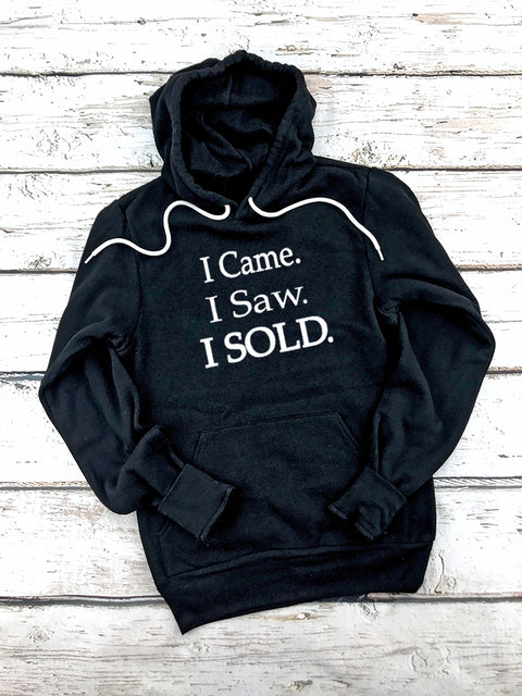 I came I Saw I Sold Hoodies-Black